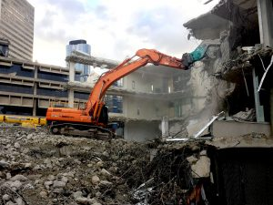 scrap steel and concrete recycling after demolition