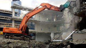 Brisbane CBD building removal